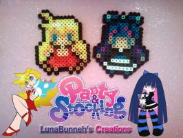 Panty and Stocking Perler Bead by Lunabunneh