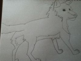 Wolf drawing by Draconian12