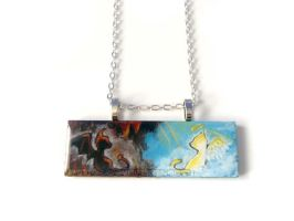 Cats: Heaven and Hell - Pendant Necklace by sobeyondthis