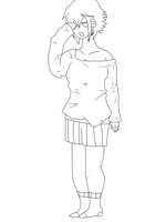Good Morning Rima (line Art) by bassie-michelle
