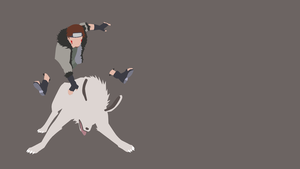 Kiba Inuzuka(The Last) Minimalist Wallpaper by douglaaz