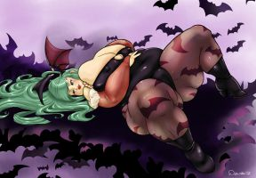 Fat Morrigan by Debu-Rabu
