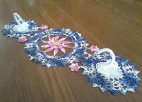 Serene Swans Doily by koepr5333