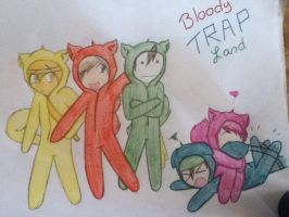 Pewds and Bros: Bloody Trapland by judy2468