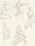 Male Pose Sketch by AVasquezArt