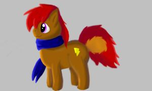 My new Pony OC color by TE-Lightning