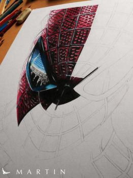 The Amazing Spiderman WIP I by Martin--Art