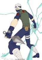 kakashi chidori coloured by dianna7