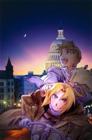 FMA Poster- Night Ride by AnimeEmm