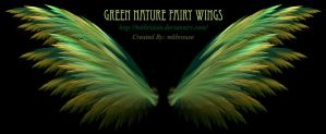 Green Nature Fairy Fractal Wings by mkbrouse