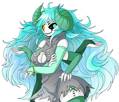 Minty Spider~! Its me~! by Arachno-Philia