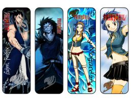 Fairy Tail Bookmarks Gajeel / Levy by MalcoLXX
