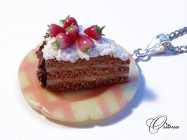 Strawberry sponge cake 1 by OrionaJewelry