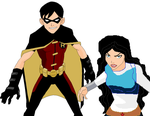 Boy Wonder and The Amazoness by wolfdemongirl13