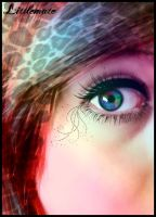 My eye and hair ,Photomanipulation by Littlemate
