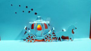 How to make a Cinderella Carriage Pop Up Card! by tommyclancygames