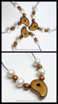 Maya Fey's Magatama and Pearls Charm Necklace . by WINGEDLESS