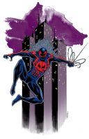 Spidey 2099 colored by 93Cobra