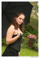 Portrait: With Black Umbrella by Uttermost