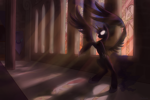 Ilustration~ Shadows over Equestria, Luna by Mao-Ookaneko