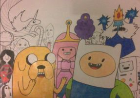 ADVENTURE TIME come on grab your friends by Lauren-Cathryn