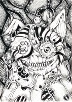 ACEO 022 Alice in Wonderland Cheshire cat by WojikHell
