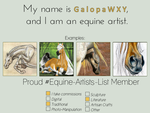 Equine artist by GalopaWXY