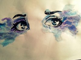 painting of eyes (: by xmattycooijmans