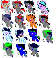 Leftover Foal Adopts CLOSED by BrokenMirrors-Adopts
