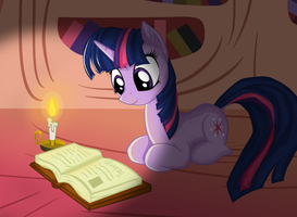 Twilight Reading at Night Remaster by TheGarry-D