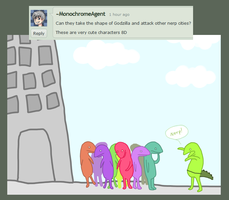 Yes, Nerps can be Godzilla. by BambooGecko