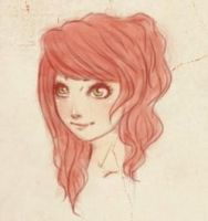 Pink haired girl by Ezelie