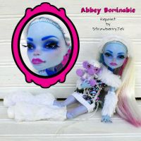 Abbey Bominable -  Monster High Repaint by PixiePaints