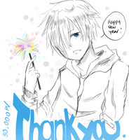 Thank You 30000 PVs ( Happy New Year ) by Hourglass34