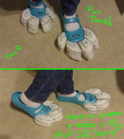 Ice's Fursuit: Feet Paws Ready for Furring! by Ice-Artz