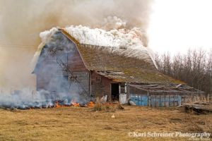 Burning Down The Barn 2 by KSPhotographic