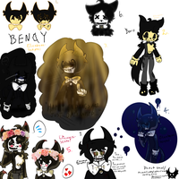 (Doodles 1) Bendy and The Ink Machine by Elizabeth-Senpai