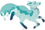 SOLD blue water drops canine adopt by ChezuAdoptables