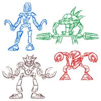Bionicle Sketches 1 by ScoBionicle99