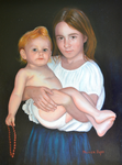 sisters after Bouguereau's the elder sister by agstudio1