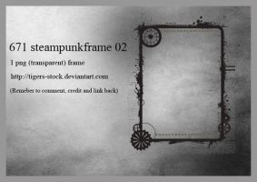 671 Steampunk Frame 02 by Tigers-stock