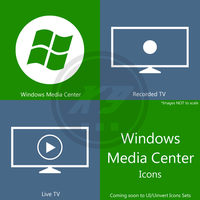 Windows Media Center Icons - in Metro Icon Set by dAKirby309