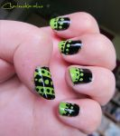 Stripes and Spots - Left hand by CharleneKaraline