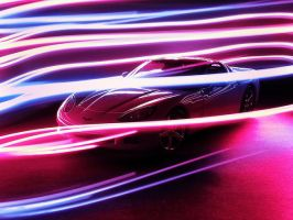 Corvette C6 Light Painting by FordGT