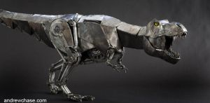 Mechanical metal T. rex 0522-2 by Andrew-Chase