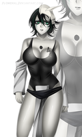 COMMISSION: Ulquiorra bleach female by Flowerxl