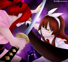Erza vs Kagura (FT313) by ScarletSky7