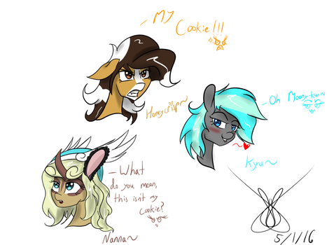 The Many Expressions of OCs Part 1 by MoonOfSouls