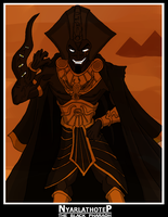 Nyarlathotep:The Black Pharaoh by genocyber