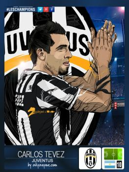 LesChampions: Carlos Tevez Juventus Stickers by akyanyme